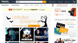 Amazon.com testet neues Design für's Weihnachtsgeschäft