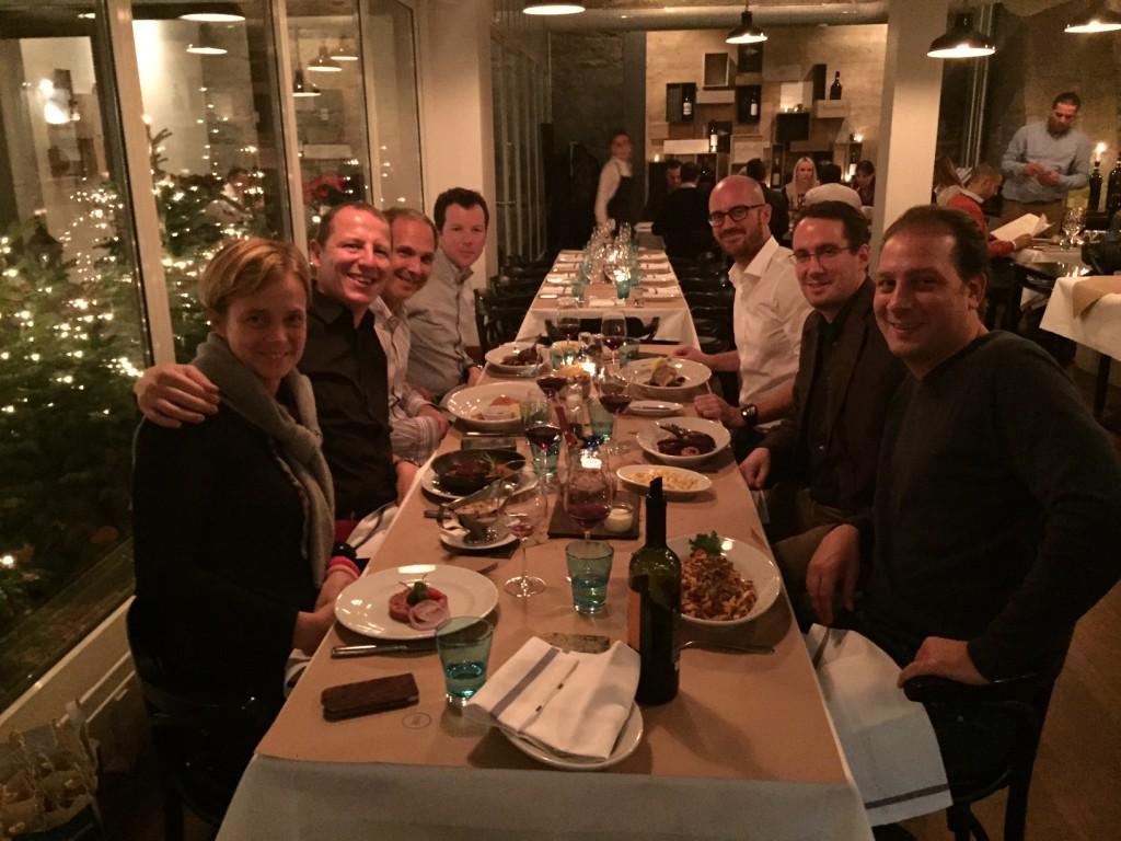 Ein Grossteil der Carpathia Crew anlässlich des Weihnachtsessen 2014
