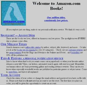 Amazon.com anno 1995