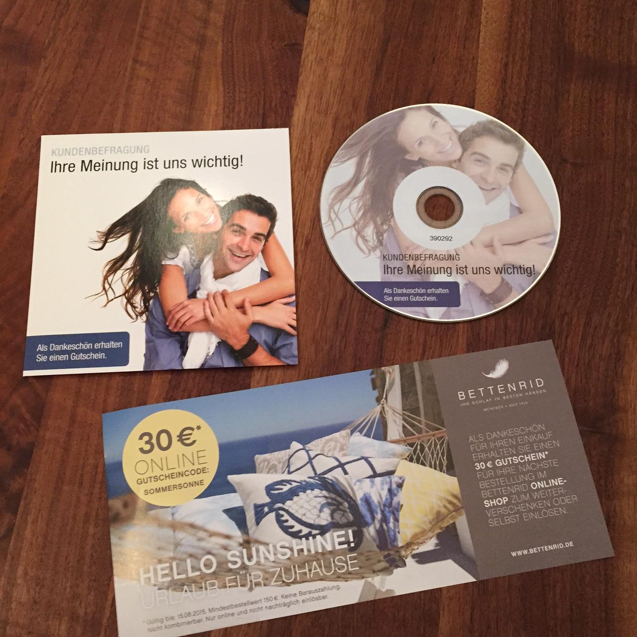 Bettenrid und der CD-Fail