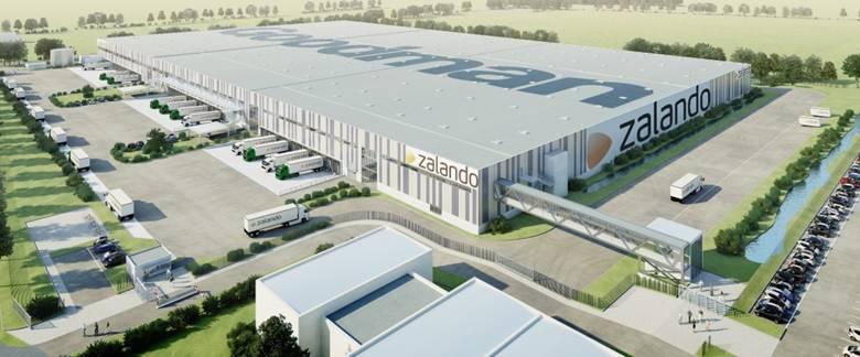 Zalando Logistik Zentrum in Erfurt mit 125'000m2, erbaut 2012 - Quelle: Zalando
