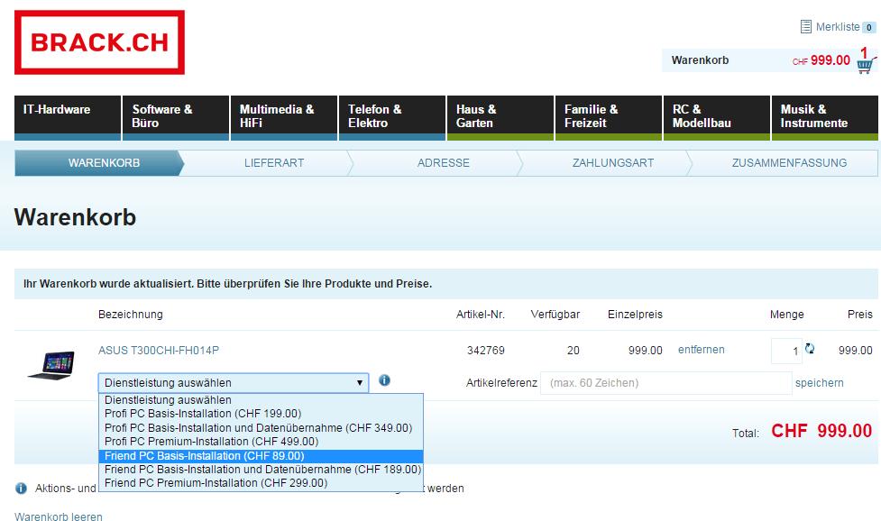 Installationshilfen von Privat oder Profi bei Brack.ch