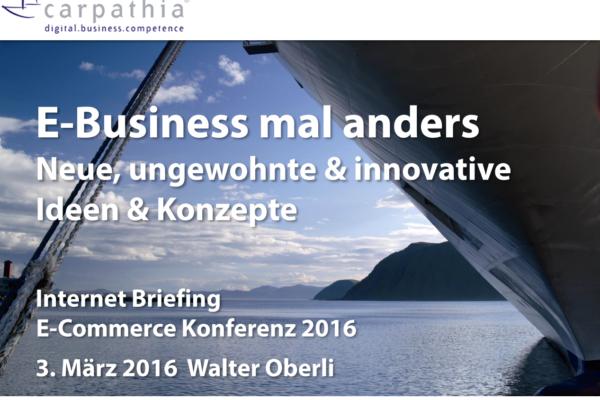E-Business mal anders – Neue, ungewohnte und innovative Konzepte