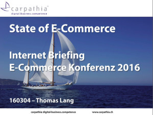 State of E-Commerce 2016