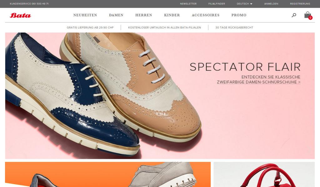 Onlineshop von www.bata,ch