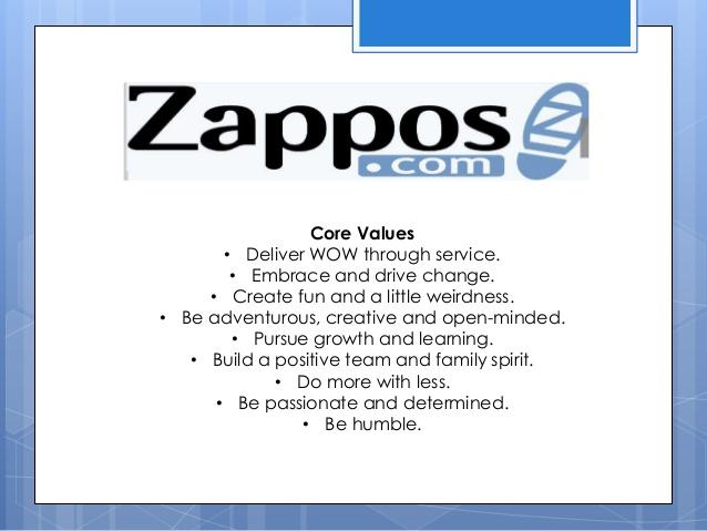 Core Values von zappos.com