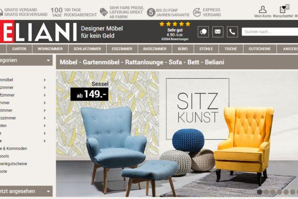 Möbel Online: Beliani expandiert weiter und lässt hinter die Kulissen blicken
