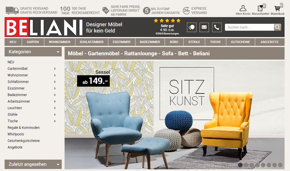 Möbel Online Beliani Expandiert Weiter Und Lässt Hinter Die