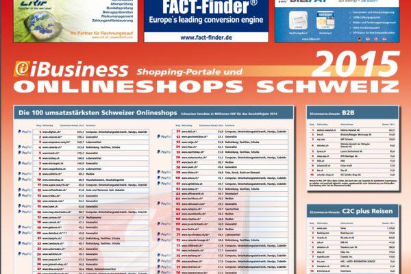 Die umsatzstärksten Schweizer Onlineshops 2016