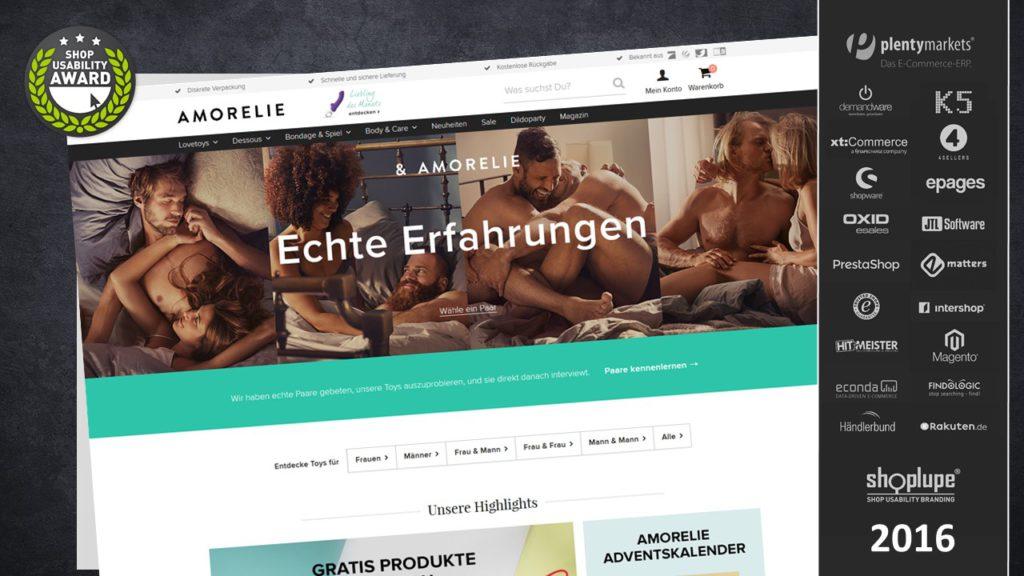 amorelie.de - Gesamtsieger des Shop-Usability-Awards 2016