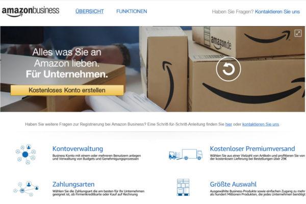 B2B: Amazon Business in Deutschland gestartet