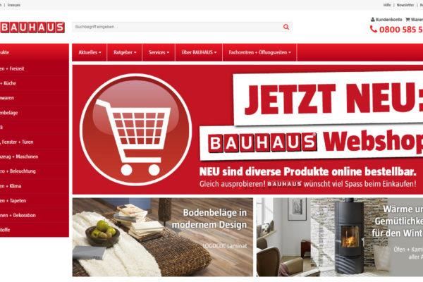 Baumarkt-Rallye: Bauhaus startet neuen Onlineshop in der Schweiz