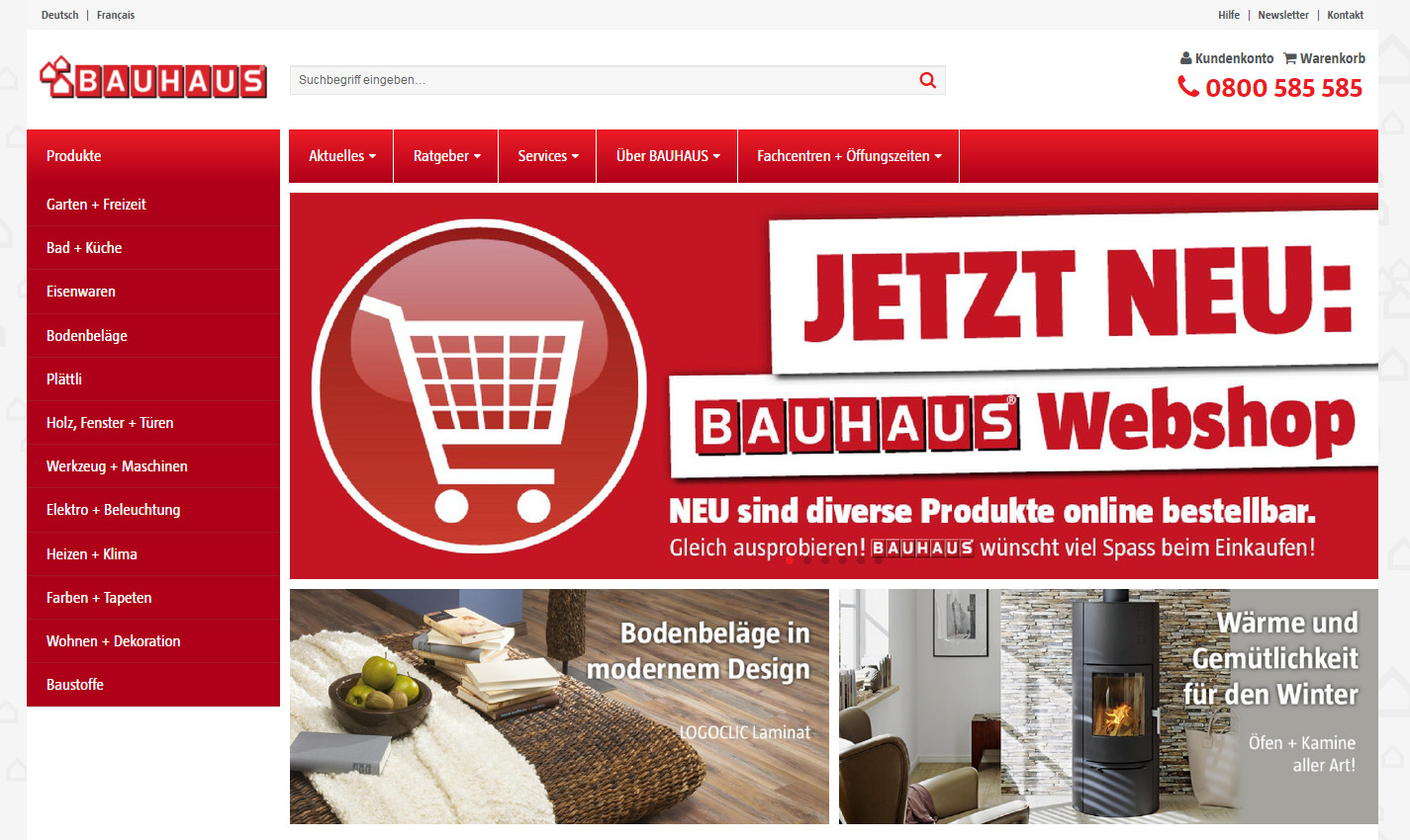baumarkt rallye bauhaus startet neuen onlineshop in der. Black Bedroom Furniture Sets. Home Design Ideas