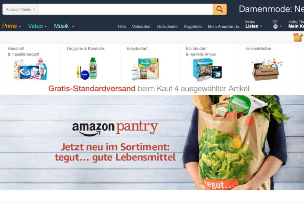 Amazon Pantry mit tegut Sortiment