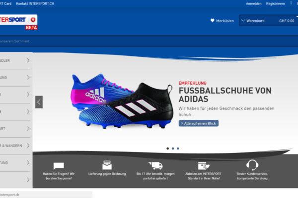 Startseite von intersport.ch