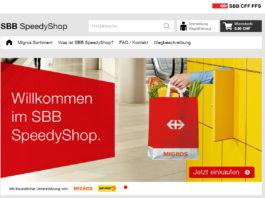 Startseite vom speedyshop.ch