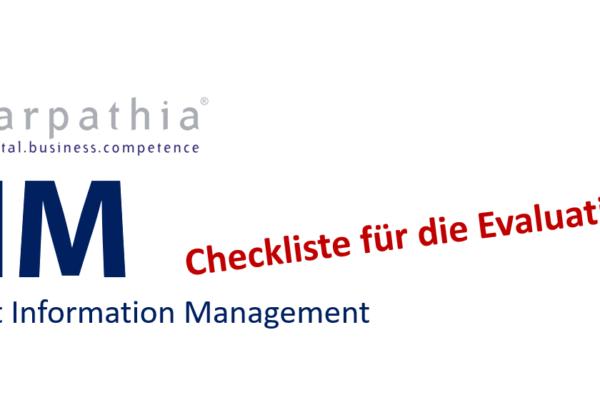 Checkliste für die Evaluation eines PIM – Product Information Management
