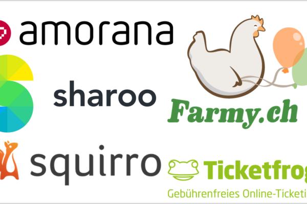 Amorana, Farmy, Sharoo, Squirro und Ticketfrog: Bewegende Schweizer Startup-Woche