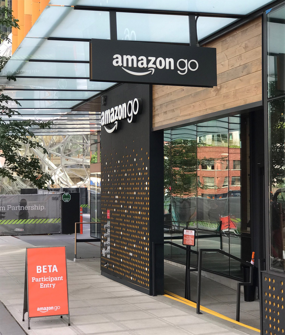 Amazon-Go Convenience-Store am Hauptsitz von Amazon in Seattle - 2017 noch in der Beta-Phase (Photo. Thomas Lang)