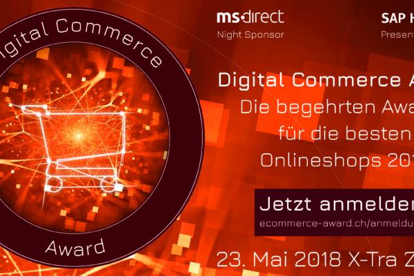 Bewerbung zum Digital Commerce Award 2018