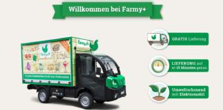 """Neue Elektro-Lieferfahrzeuge von Farmy und Lieferversprechen in den Pilot-Regionen von """"Farmy+"""""""