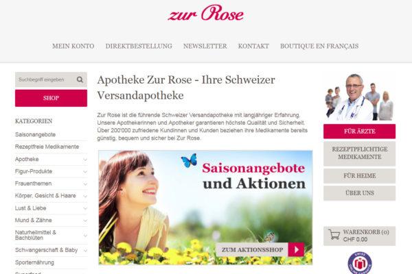 Online-Apotheke Zur Rose mit massivem Umsatzwachstum
