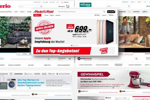 Relaunch Rallye: Interio/Micasa, Media Markt und Nettoshop/Schubiger mit Redesign