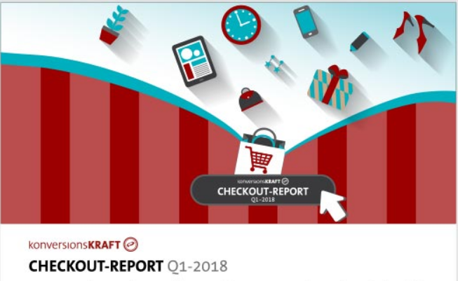 Preview: Infografik E-Commerce Checkout-Report Q1-2018 von Konversionskraft