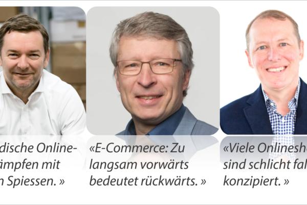 Brennpunkt E-Commerce Schweiz der Netzwoche mit Patrick Kessler, Ralf Wölfle und Thomas Lang
