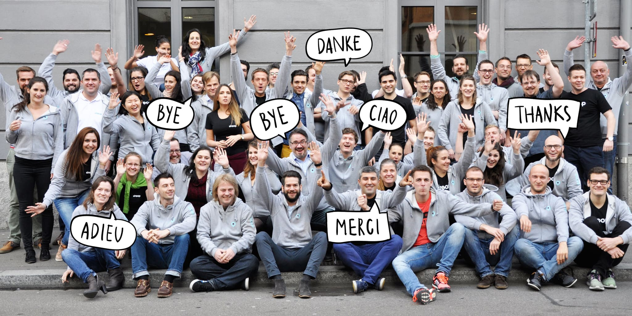 Das Siroop-Team sagt Good-Bye - Quelle: Siroop.ch