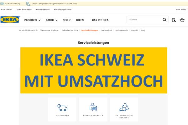 Ikea Schweiz wächst vor allem im Onlinebereich (+21%) und bei den Services (+12%)