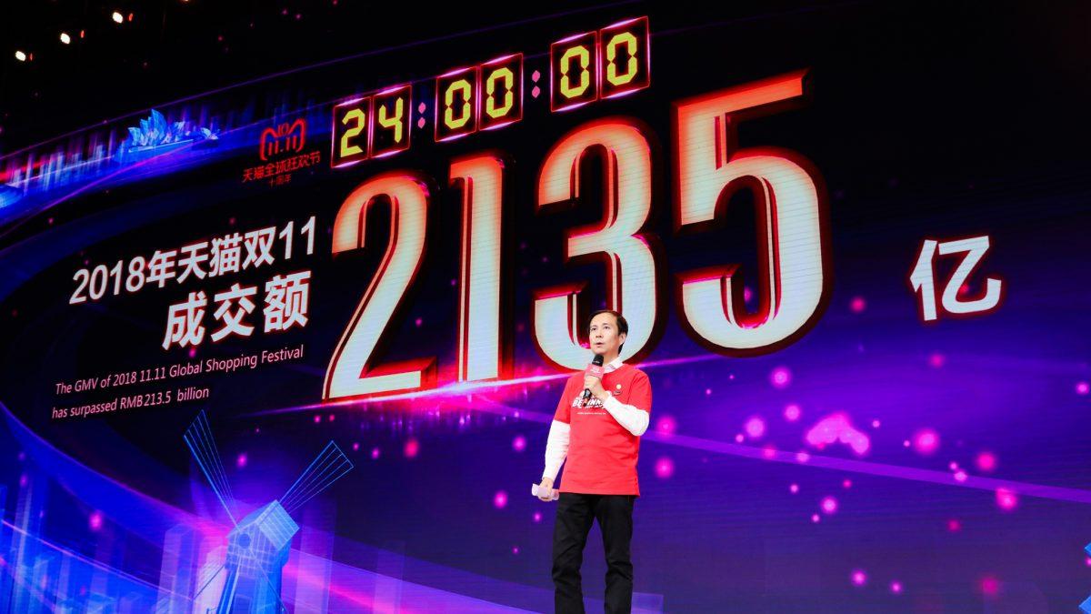 USD 30.8 Milliarden Umsatz (GMV) am 11.11.2018 (Single's Day) alleine bei Alibaba