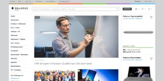Startseite von Galaxus Deutschland am 1.11.2018 - galaxus.de