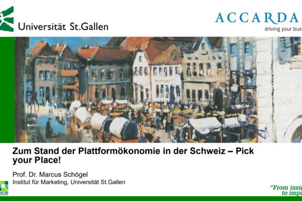 Status quo der Plattformökonomie in der Schweiz