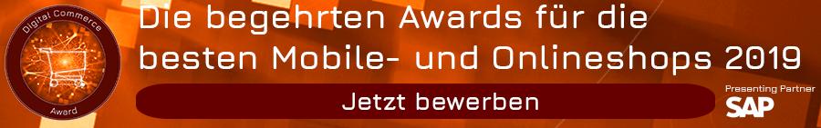 Jetzt bewerben für die begehrten Awards für die besten Mobile- und Onlineshops 2019 der Schweiz