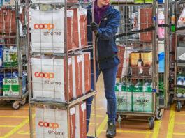 E-Food Logistik bei Coop@Home / Bild: Handelszeitung