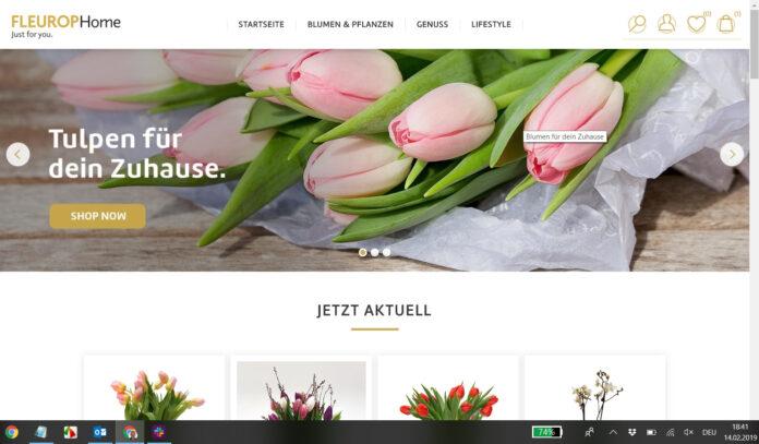 Startseite von Fleurop-Home