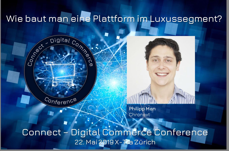 Philipp Man, CEO und Gründer von Chronext, steht uns Red und Antwort an der Connect – Digital Commerce Conference