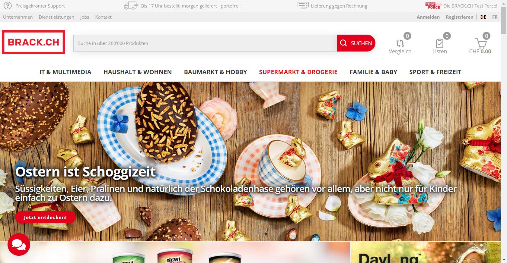 BRACK.CH Startseite Supermarkt & Drogerie