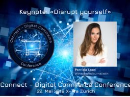 Discrupt Yourself: Keynote von Patrizia Leari an der Connect - Digital Commerce Conference 2019
