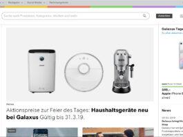 Startseite Galaxus Deutschland