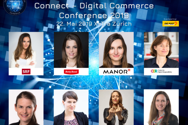 Diversität auf der Bühne: Speakerinnen an der Connect - Digital Commerce Conference 2019