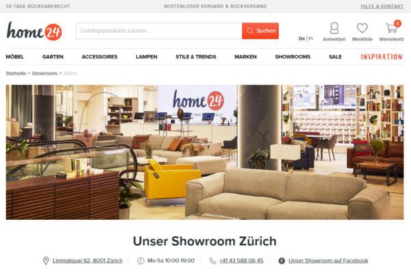 Home24 Showroom in Zürich