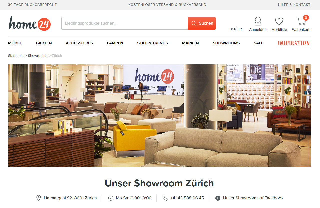 Home24 Showroom in Zürich