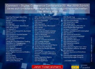 Teilnehmende Unternehmer und Entscheider der Connect - Digital Commerce Conference 2019