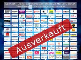 Ausverkauft: Diese Hersteller und Händler sind bereits an der Connect - Digital Commerce Conference 2019 (Auszug) - Stand 20. Mai 2019