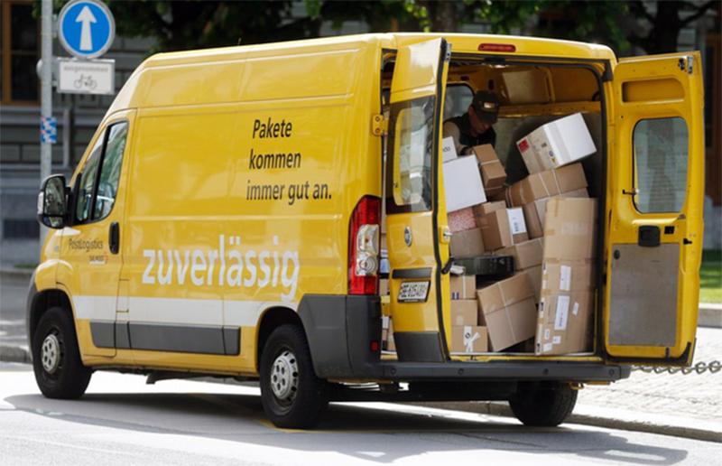 Paketlieferung auf der letzten Meile durch die Schweizer Post