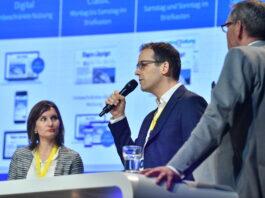 Connect - Digital Commerce Conference 2019: Digital Transformers. Innovate or Die mit Laure Frank, Manor, Marc Isler, Tamedia, und Danny Röthlin, Ex Libris
