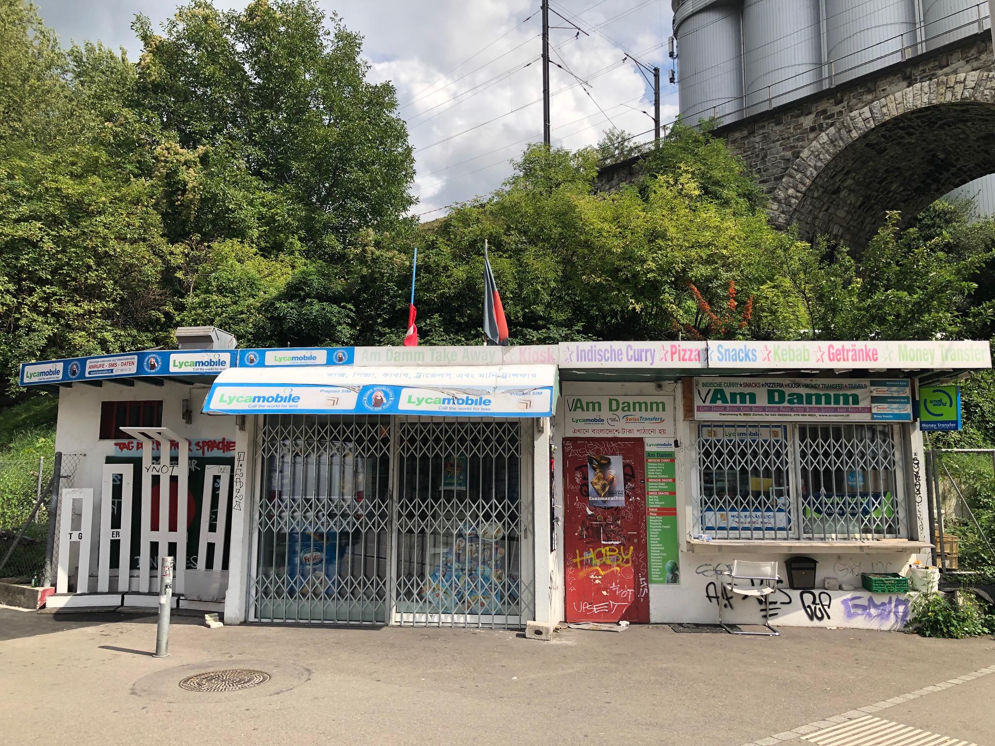 Wish Abholstandort in Zürich: Schellimbiss am Dammweg an der Limmatstrasse, vis-à-vis Markthalle Viadukt