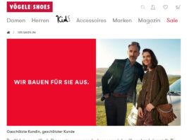 Vögele Shoes stellt Onlneshop (vorübergehend) ein